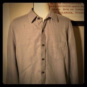 Tasso Elba Gray Striped Button Down Shirt